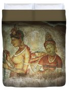5th Century Cave Frescoes Duvet Cover