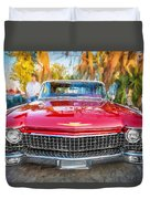 1960 Cadillac Eldorado Biarritz Convertible Painted  Duvet Cover