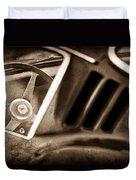 1966 Ferrari 275 Gtb Steering Wheel Emblem Duvet Cover