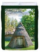 A Typical Ukrainian Antique Hut Duvet Cover