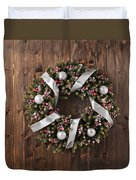 Advent Christmas Wreath Decoration Duvet Cover