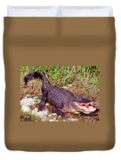 American Alligator Duvet Cover