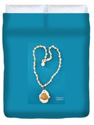 Aphrodite Antheia Necklace Duvet Cover by Augusta Stylianou