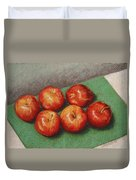 6 Apples Washed And Waiting Duvet Cover