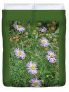 6 Asters Left Duvet Cover
