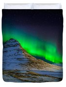Aurora Borealis Or Northern Lights Duvet Cover