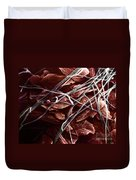 Candida And Epithelial Cells Duvet Cover by David M. Phillips