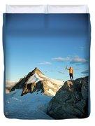 Climbing Cypress Peak Duvet Cover