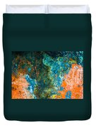 Colored Rust Metal Duvet Cover