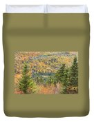Colorful Fall Forest Near Rangeley Maine Duvet Cover