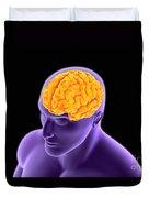 Conceptual Image Of Human Brain Duvet Cover