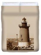 Delaware Breakwater Lighthouse Duvet Cover