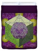 Dodecahedron In A Metatron's Cube Duvet Cover