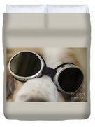 Dog With Sunglasses Duvet Cover