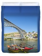 Dom Luis Bridge Porto Portugal Duvet Cover