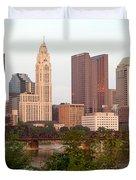Downtown Skyline Of Columbus Duvet Cover