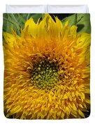 Dwarf Sunflower Named Teddy Bear Duvet Cover