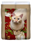 Flame Point Siamese Cat Duvet Cover