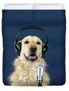 Golden Retriever Dog Duvet Cover