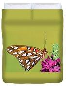 Gulf Fritillary Butterfly Duvet Cover