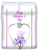 Happy Valentines Day Duvet Cover