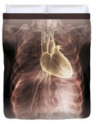 Heart Within The Chest Duvet Cover