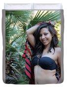 Hispanic Beauty Duvet Cover
