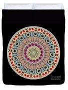 Kaleidoscope Colorful Jeweled Rhinestones Duvet Cover