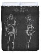 Manikin For Teaching Obstetrics And Midwifery Patent From 1951 - Duvet Cover