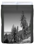 Mountainside Near Lake Tahoe Duvet Cover