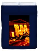 Moving Fast In The Town At Night  Duvet Cover