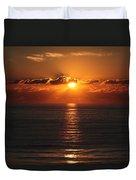 Ocean City Md Sunrise Duvet Cover