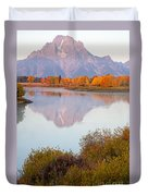 Oxbow Bend Grand Teton National Park Duvet Cover