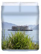 Passenger Ship On An Alpine Lake Duvet Cover