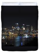 Pittsburgh Skyline At Night Duvet Cover