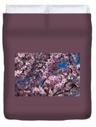 Plum Tree Flowers Duvet Cover