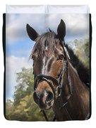 Rocking Horse Stables Duvet Cover