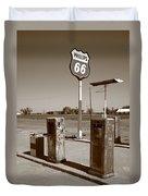 Route 66 Gas Pumps Duvet Cover
