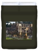 Ruins In The Roman Forum Rome Italy Duvet Cover
