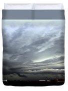 Severe Warned Nebraska Storm Cells Duvet Cover