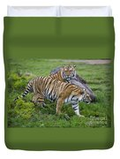 Siberian Tigers, China Duvet Cover