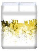 Singapore Skyline In Watercolour On White Background Duvet Cover