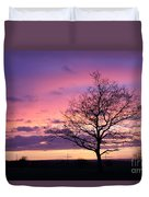 Spectacular Sunset Epsom Downs Surrey Uk Duvet Cover