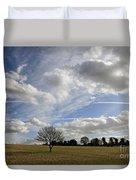 Spring Sunshine On Epsom Downs Surrey Duvet Cover