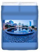 St. Louis Downtown Skyline Buildings At Night Duvet Cover