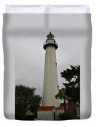 St Simons Island Lighthouse Duvet Cover