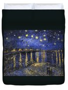 Starry Night Over The Rhone Duvet Cover