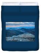 Sunset View Over Blue Ridge Mountains Duvet Cover