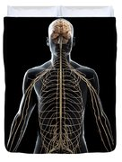 The Nerves Of The Upper Body Duvet Cover