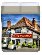 The Woodman Pub Duvet Cover